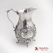 Baroque Repousse Floral Scroll Creamer Gorham Sterling Silver 1890