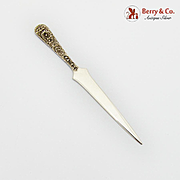 Repousse Floral Letter Opener S Kirk And Son Inc Sterling Silver 1930