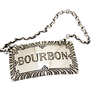 Colonial Williamsburg Restoration Bourbon Bottle Tag Label Stieff Sterling Silver