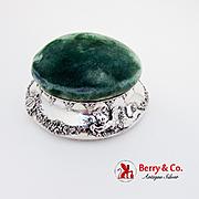 Tiffany Co Renaissance Revival Pincushion Jewelry Box Sterling Silver 1900s