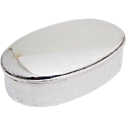 Oval Jewelry Box Fitted Interior Gorham Sterling Silver 1912 Date Mark