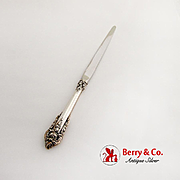 Grande Baroque Large Letter Opener Stainless Blade Wallace Sterling Silver