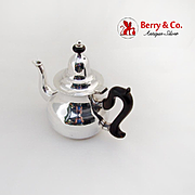 Antique French Teapot Wooden Handle 950 Sterling Silver 1880