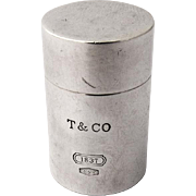 Authentic Tiffany Co Cylinder Pill Box Sterling Silver
