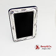 Vintage Rounded Rectangular Picture Frame Sterling Silver 1980