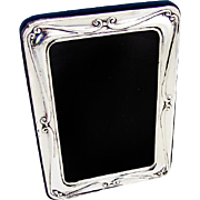 Vintage Rounded Rectangular Picture Frame Sterling Silver 1980