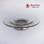 Small Crystal Cake Plate Sterling Silver Base WEB Sterling Co 1960
