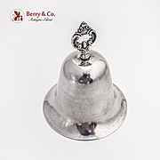 Vintage Dinner Bell Ornate Handle Sterling Silver 1950 Colombia