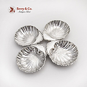 Vintage Shell Dishes Set Birks Sterling Silver 1945 Date Mark
