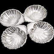 Vintage Shell Dishes Set Birks Sterling Silver 1945 Date Mark