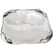 Arts And Crafts Tray Serving Plate Cone Decorations Paul Peterson Sterling Silver