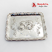 Repousse Reynolds Angels Dresser Tray William Myatt Co Sterling Silver 1906 Birmingham
