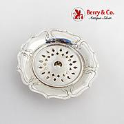 Fourteenth Century Butter Dish Drain Plate Shreve Co Sterling Silver 1910 Mono