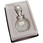 Vintage Crystal Perfume Bottle Old Master Sterling Silver Cap Towle 1970 Boxed