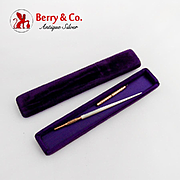 Vintage Pen Mechanical Pencil Set Mother Of Pearl Handle Original Box