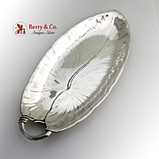 Leaf Form Bread Celery Tray Openwork Handle International Sterling Silver