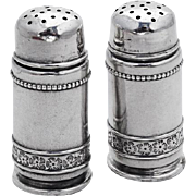 Aesthetic Small Salt Pepper Shakers Pair Gorham Sterling Silver 1880