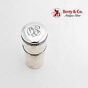Vintage Shaving Soap Box Foster Bailey Sterling Silver 1910 Monogram