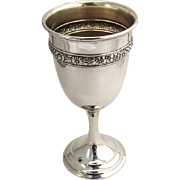 Bridal Bouquet Water Goblet Gilt Interior Alvin Sterling Silver 1932