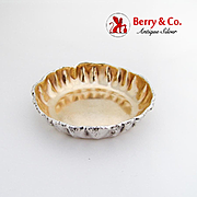Aesthetic Acid Etched Small Strawberry Bowl Gilt Interior Gorham Sterling Silver