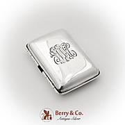 Art Nouveau Cigarette Small Cigar Case Gilt Interior International Sterling Silver