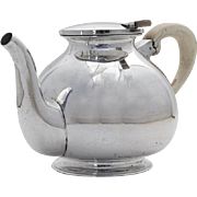 Austrian Secessionist Teapot 800 Standard Silver 1900