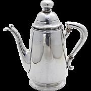 Austrian Secessionist Coffee Pot 800 Standard Silver 1900