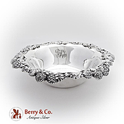 Tiffany Co Clover Serving Bowl Openwork Applied Rim Sterling Silver 1900 Monogram