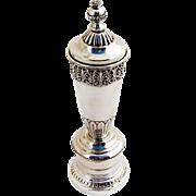 Ornate Large Pepper Mill Grinder Italian 800 Standard Silver 1950