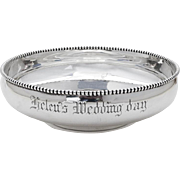 Round Beaded Serving Bowl Whiting Mfg Co Sterling Silver 1900