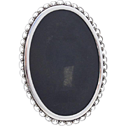 Vintage Ornate Oval Picture Frame Aucello Sterling Silver
