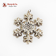 Gorham Snowflake Christmas Ornament Sterling Silver 1976