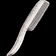 Hatchwork Design Moustache Comb Sterling Silver