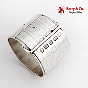 Engraved Belt Form Napkin Ring Martin Hall Co Sterling Silver 1882 Sheffield