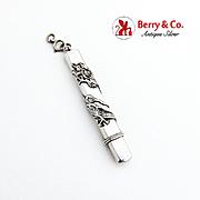 Art Nouveau Chatelaine Pencil Case Applied Dragon Figure Sterling Silver 1900