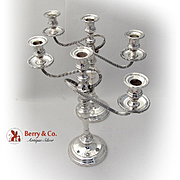 Vintage Three Branch Candelabras Pair S Kirk And Son Sterling Silver