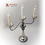 Baroque Three Branch Candelabrum Wallace Silverplate
