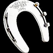 Horseshoe Form Pen Rest Horse Leg Support Shreve Co Sterling Silver Monogram