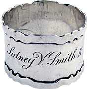 Arts And Crafts Dolores Napkin Ring Shreve Co Sterling Silver 1910