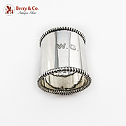 Large Wide Napkin Ring Heavy Weight Towle Sterling Silver Monogram