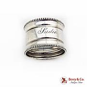 Gorham Sterling Silver Napkin Ring Beaded Rims