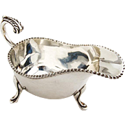 Vintage Irish Sauce Boat Royal Irish Silver Co Sterling Silver 1970