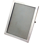 Arts And Crafts Hammered Picture Frame Shreve Co Sterling Silver 1910