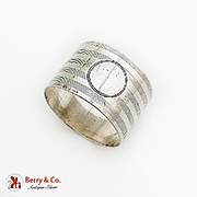 English Round Milled Napkin Ring Sterling Silver 1910 Chester No Mono