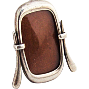 Cheval Style Miniature Picture Frame Easel Back Sterling Silver 1960 Italy