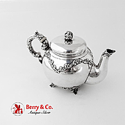 Ornate Bachelor Teapot Wallace Sterling Silver 1890