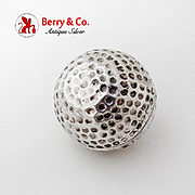 Tiffany Co Golf Ball Box Renato Salimbeni Sterling Silver Florence Italy