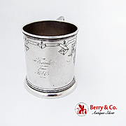 Vintage Engraved Childs Cup Vanderslice Co Coin Silver San Francisco