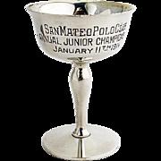 San Mateo Polo Club Trophy Gilt Interior Shreve Co Sterling Silver 1914