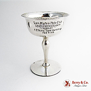 San Mateo Polo Club Trophy Gilt Interior Shreve Co Sterling Silver 1913